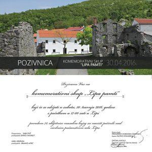Pozivnica - komemorativni sku...